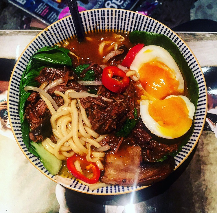chilli beef ramen recipe, wagamamas chilli beef ramen recipe, how to make chilli beef ramen, brisket ramen recipe, brisket recipes, ramen recipes, how to make ramen at home, food blog, london food blogger, plates and places