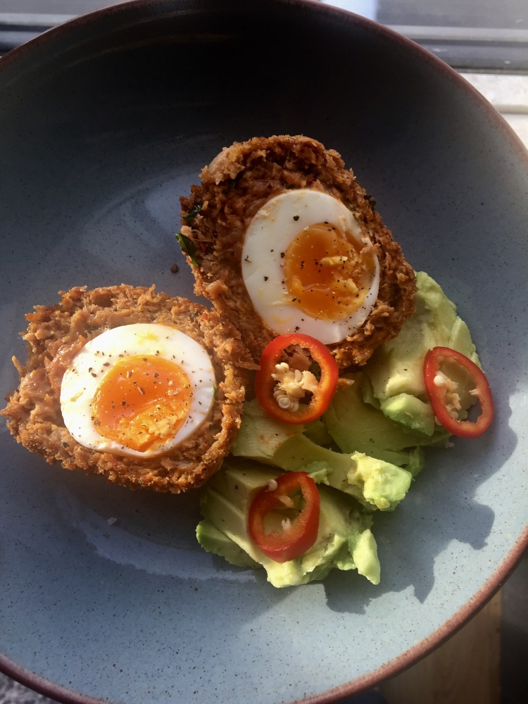 Chorizo and coriander scotch egg plates and places scotch egg recipe chorizo scotch egg recipe how to make scotch eggs homemade forumfinder Choice Image