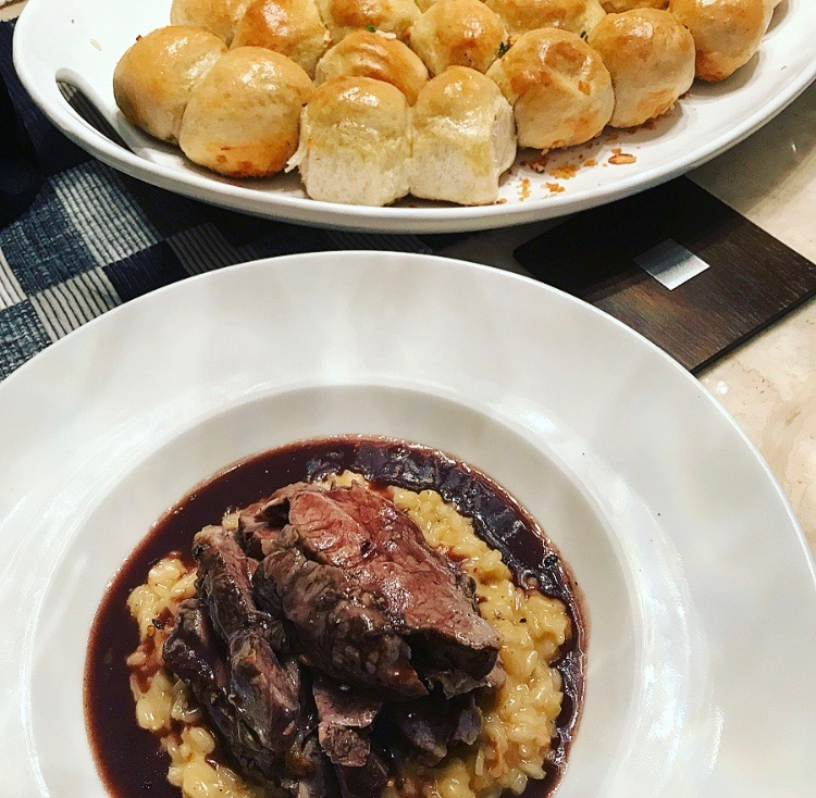 lamp rump recipes, what to do with lamb rump, lamb with risotto, roast lamb rump with epoisses risotto and gravy, risotto recipes, epoisses risotto recipe, food blogger, epoisses cheese recipes