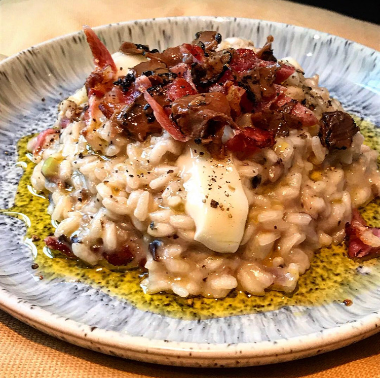 risotto recipe, blue cheese risotto, truffle risotto recipe, mushroom risotto, bacon blue cheese and mushroom risotto